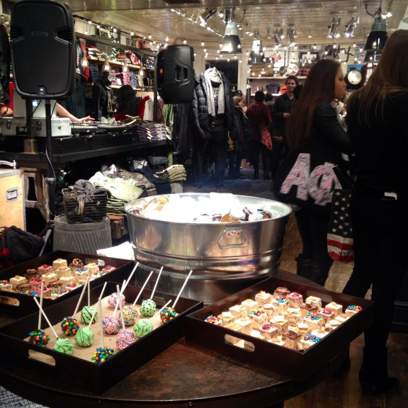 """Live DJ and sweet treats at CollegeFashionista's """"Style On,"""" an event celebrating the opening of Ralph Lauren Denim and Supply on Newbury Street. Photo by Megan Kirk."""
