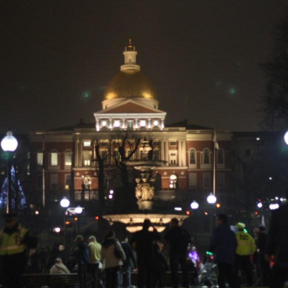 The Massachusetts State House served as an impressive backdrop for the event