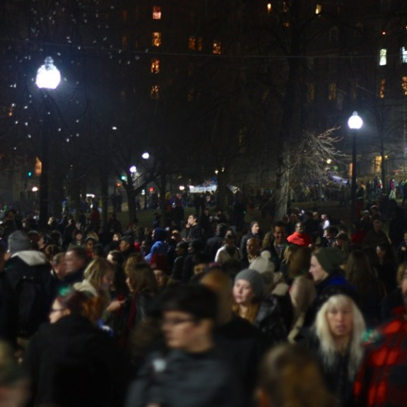 Thousands of Boston residents came out to celebrate the tree lighting