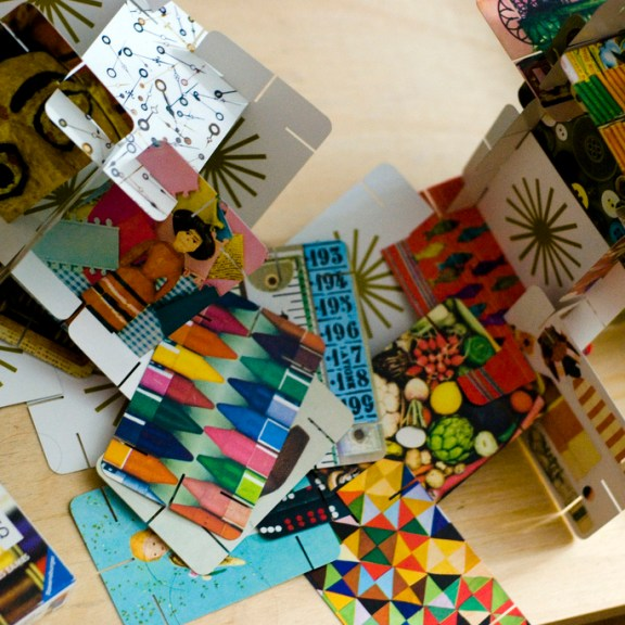 The House of Cards toy designed by Ray and Charles Eames. | Image courtesy of Flickr user Ph0enixInFlight