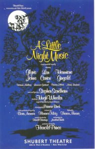 The original poster for Stephen Sondheim's A Little Night Music | Photo courtesy of Wikipedia