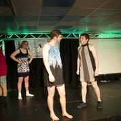 "Men of Liquid Fun perform during ""Drag Prov""