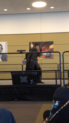 "Cosplayer dressed as Robb Stark dances to ""Ice Ice Baby."" 