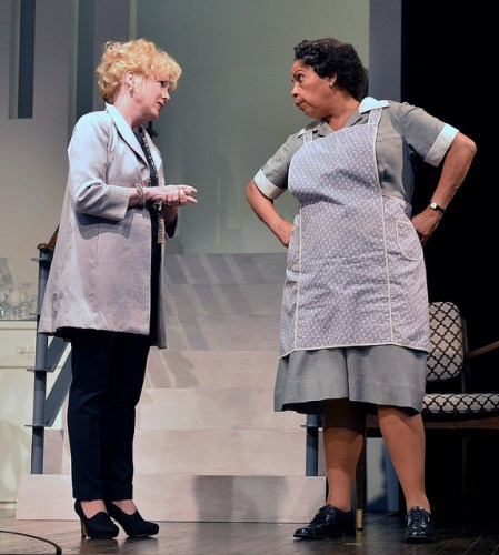 "Julia Duffy (left) and Lynda Grávatt (right) star as Christina Drayton and Matilda ""Tillie"" Binks, respectively 