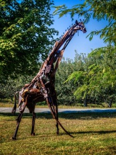 """Around the Park and Through the Woods"" is a sculpture walk featuring work from 15 local artists through wooded trails 