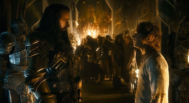 Richard Armitage (left) and Martin Freeman (right) provide most of The Battle of Five Armies' emotional core in their scenes together. Photo courtesy of Warner Bros. Pictures.
