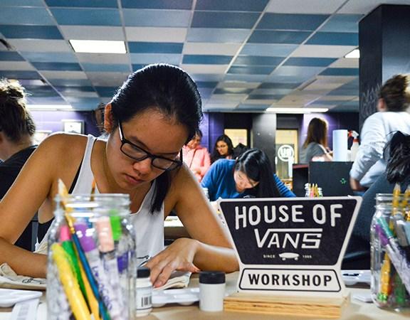 Amy Hoang designs a Vans bag.