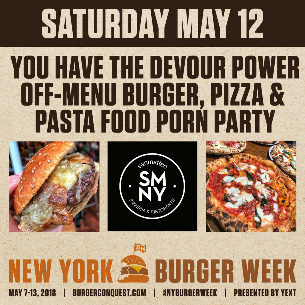 Cucina Pasta E Pizza Ny Burger Week 2018 Event Info And Ticketsburger Conquest