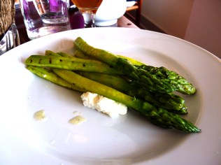 Palena's Asparagus with shaved goat cheese. (We love a shaved goat.)