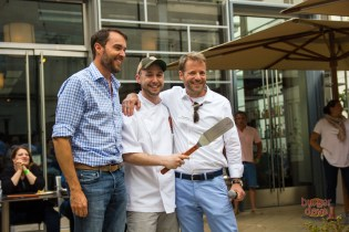 Adler taking home the People's Choice award at the Poste Burger Battle in 2015.