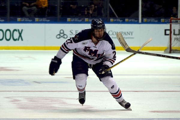 Former Robert Morris forward Zac Lynch (Shaler) was in camp with the Florida Panthers. -- BRIAN MITCHELL / PITTSBURGH HOCKEY DIGEST
