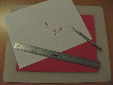 Fridge magnets red pattern