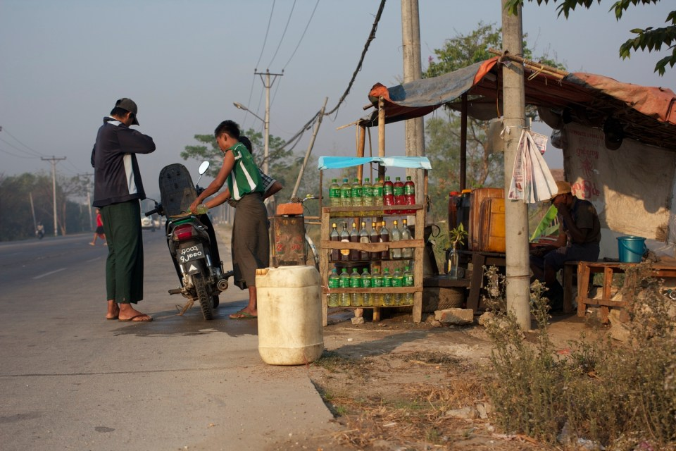 These fuel stations are quickly becoming a thing of the past. There are more and more pump stations popping up around the city. They're still quite common in smaller villages.