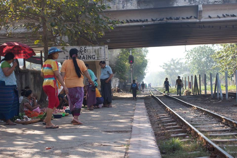 at the Thamine train station, Yangon