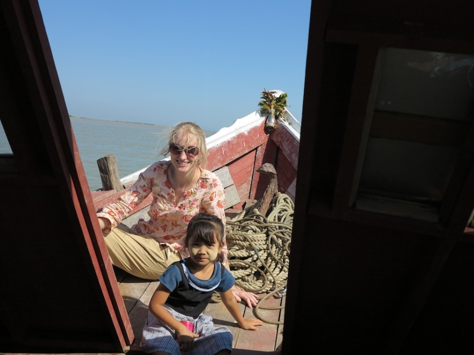 We took a 7 hour boat ride up river from Sittwe to Mrauku. It was such a pleasant way to travel!