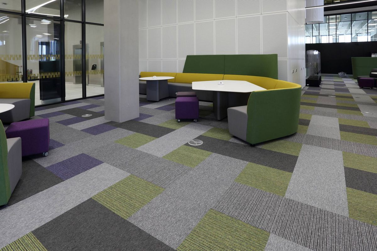 Tivoli Strand Lighting Light Grey Carpet Tiles And Planks From Burmatex
