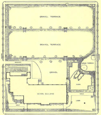 Plan of Whitefoord School garden, 1933. From Garden History of Georgia: 1733-1933.