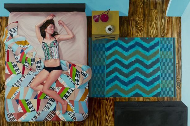 Crazy Quilt & Zig Zag Rug, 2011, oil on canvas.