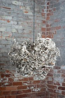 Adrienne Outlaw, Leech, 2014; Metal, sugar, archival sealant, 30 inches by 30 inches by 30 inches.