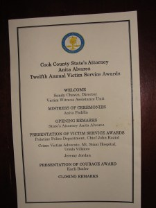 Cook County State's Attorneys Office Victim Service Awards (2010)