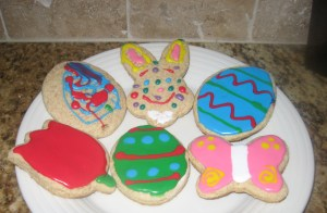 We made springtime cookies!