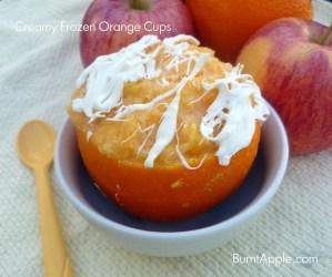 Creamy Frozen Orange Cups