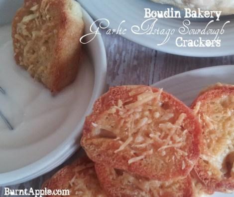 Boudin Bakery Garlic Asiago Sourdough Crackers - Burnt Apple