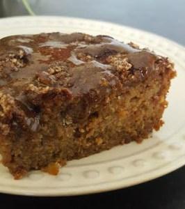 Naturally Sweetened Apple Coffee Cake with Glaze