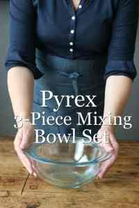 Pyrex Prepware 3-Piece Glass Mixing Bowl Set - Burnt Macaroni