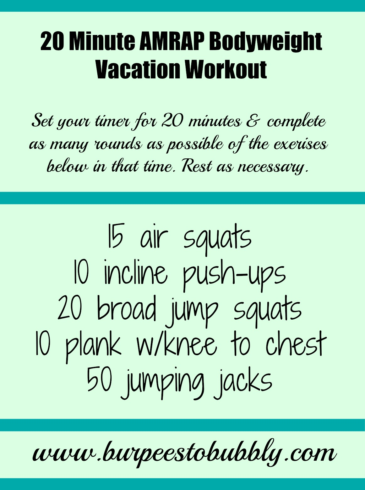 20 Minute At Home Cardio Workout Amrap Workouts No Equipment Eoua Blog