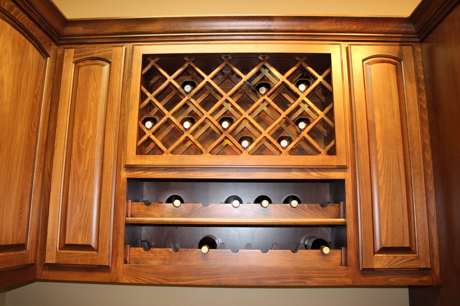 Kitchen Wine Cabinet Wine Racks Burrows Cabinets Central Texas Builder