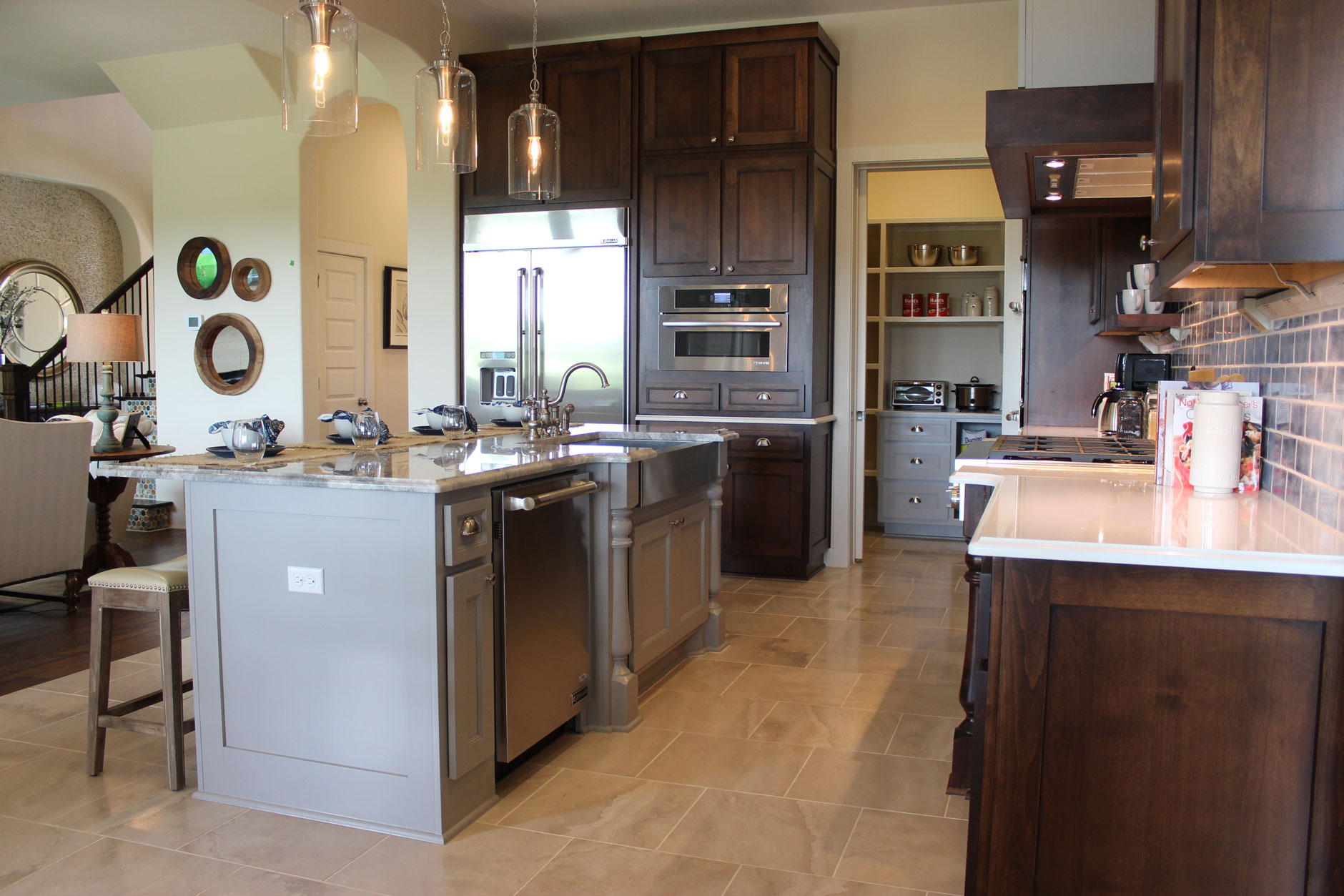 Wood Kitchen Cabinets With Painted Island Kitchen Photos Burrows Cabinets Central Texas Builder