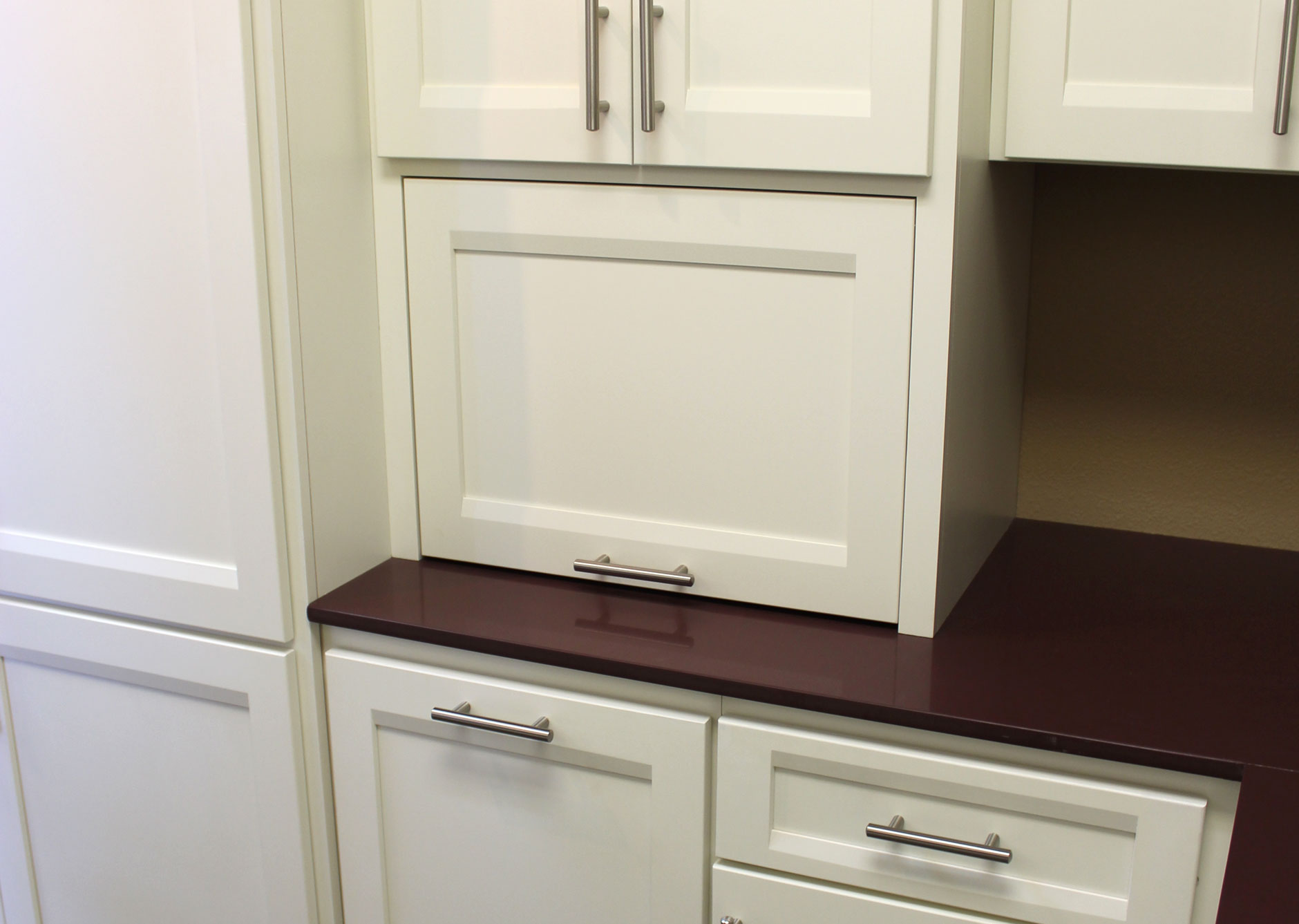 Kitchen Cabinets Appliance Garage Appliance Storage Burrows Cabinets Central Texas