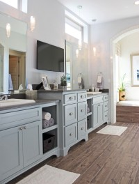 Gray Kitchen Cabinets - Burrows Cabinets - central Texas ...