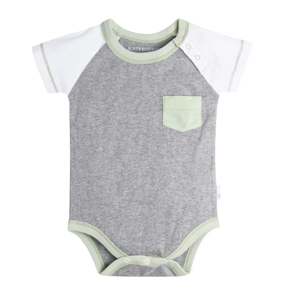 Bad Set For Baby Pocket Raglan Organic Baby Bodysuit And Footless Pants Set