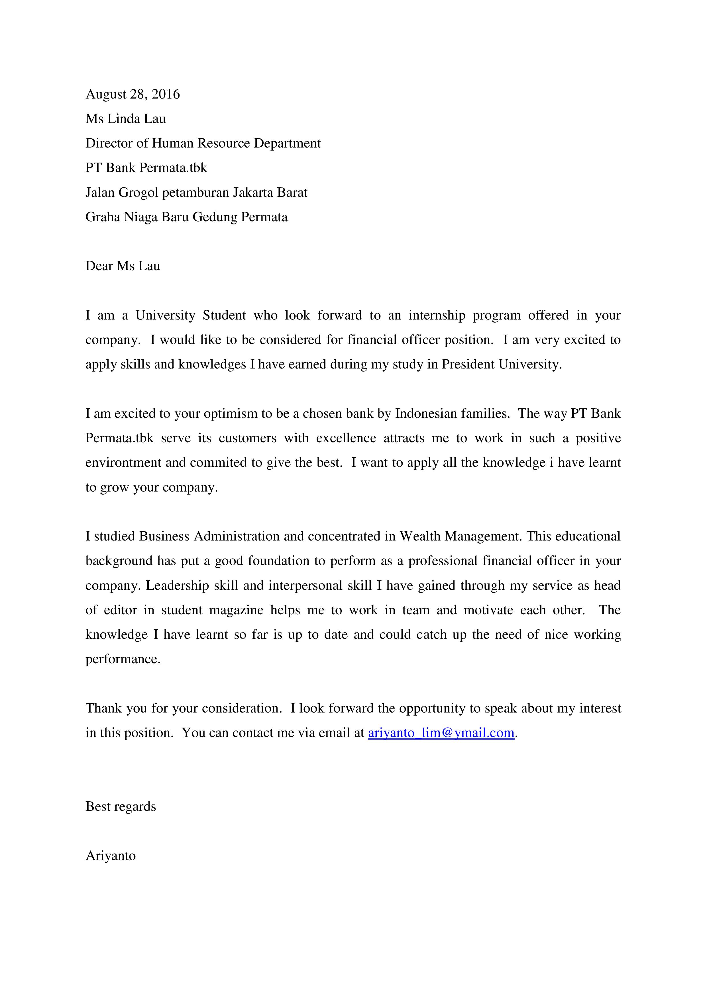 Committee Clerk Cover Letter Racism Comparison Essay Template