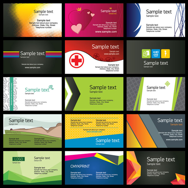Business Cards Regional Directory - sample cards