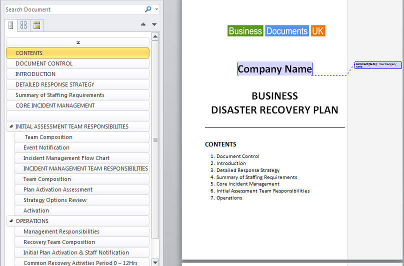 School business continuity plan