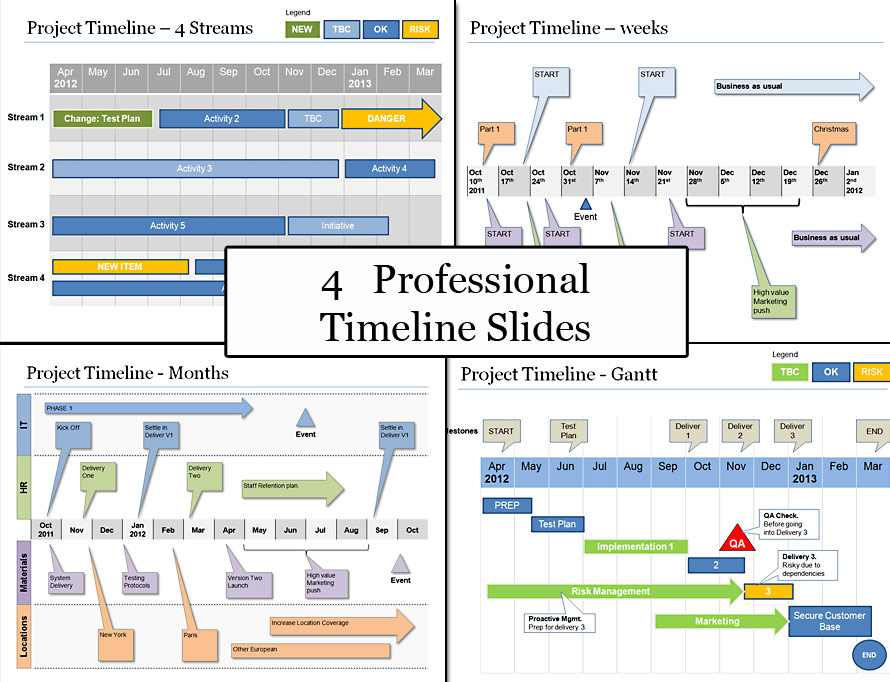 Powerpoint Project Timeline Planning Template - project plan ppt template