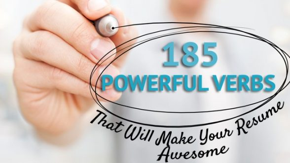 185 Powerful Verbs That Will Make Your Resume Awesome CU Denver - powerful verbs for resume