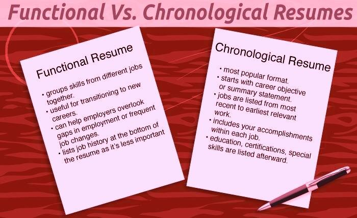 functional resume vs chronological resume