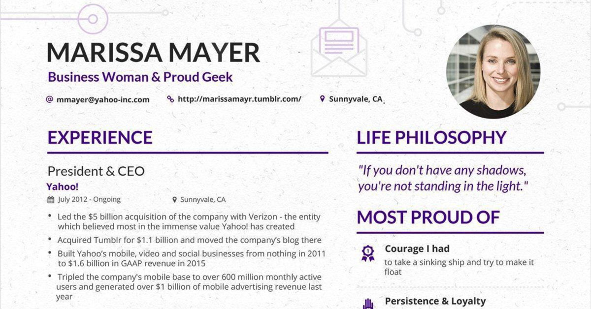 Marissa Mayer\u0027s Resume Has Gone Viral Again But Is It All It\u0027s