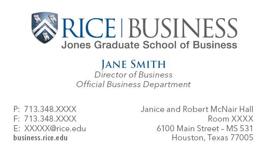 Branding Material and Template Downloads Jones Graduate School of