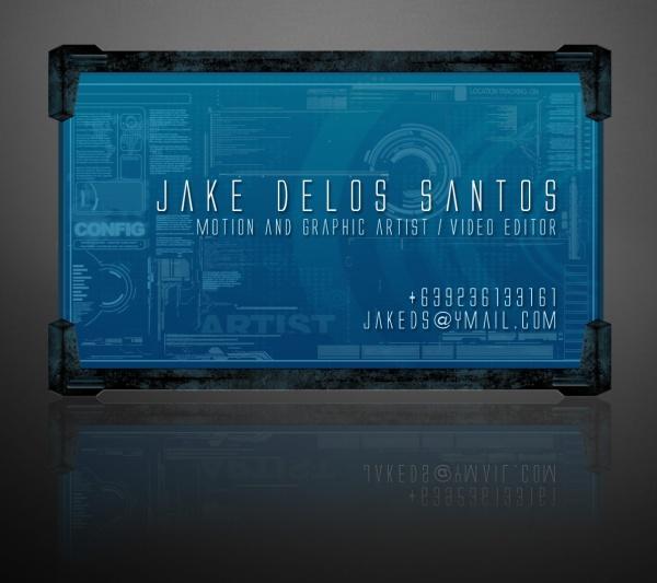 Digital Business Card Design by Jake Delos Santos