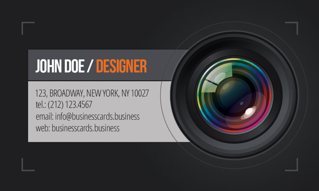 Free Photography Business Card template  Business Cards Templates - card templates for pographers