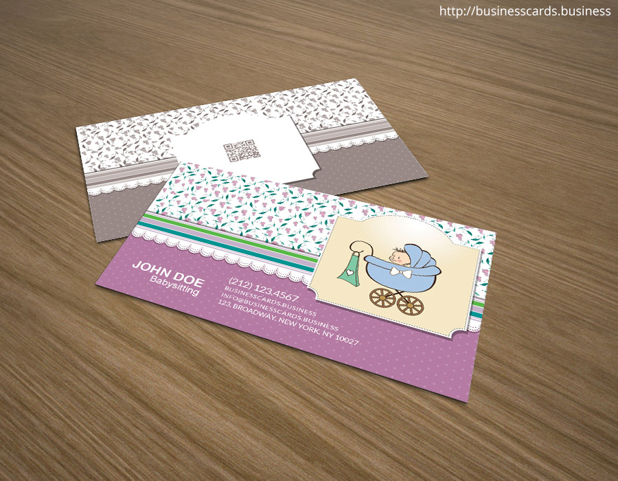 Free Babysitting Business Card Template for Photoshop  Business - business card template design