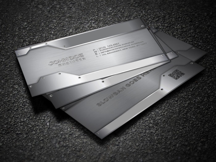 Free Metal Business Card Template for Photoshop  Business Cards