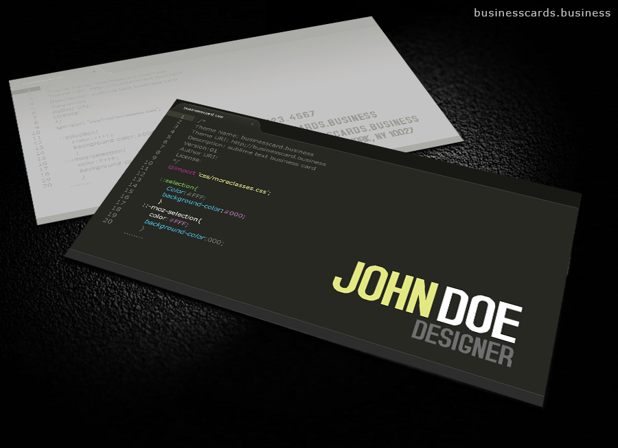 Free Developer Business Card Template for Photoshop  Business Cards