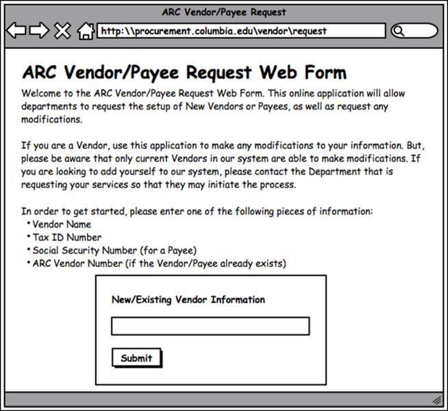 Vendor Request Form ablettervaultradio