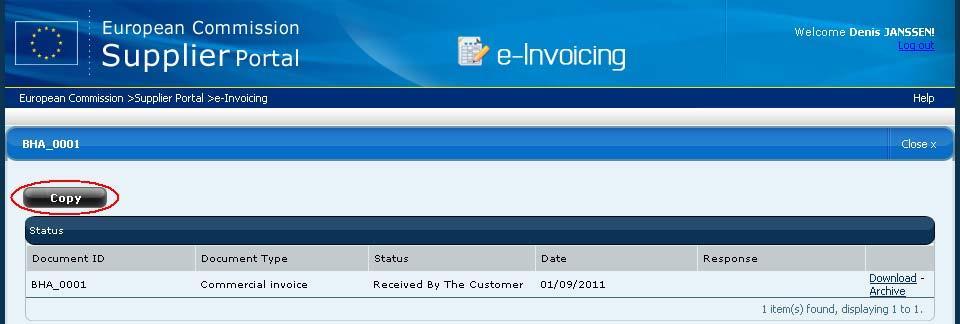 e-invoicing on the e-prior Supplier Portal - PDF